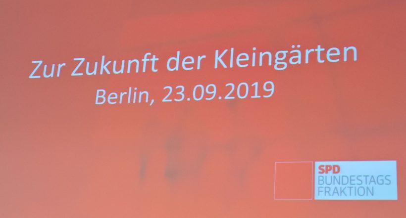 """SPD Kongress: """"Zur Zukunft der Kleingärten"""""""